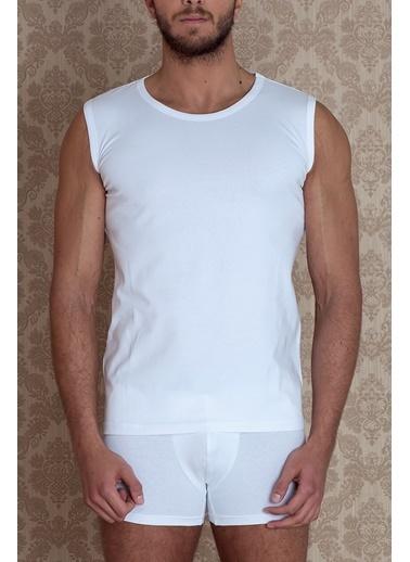 Hays Basic Erkek Düz Yaka Kolsuz Penye Atlet Beyaz